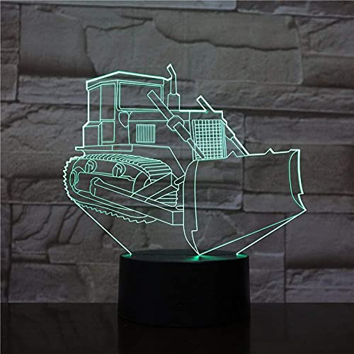 Lámpara de ilusión óptica LED 3DPower tractor carUSB Luz u oficina decorativa con batería 7 colores Regalos de vacaciones de cumpleaños para niños-7 color touch