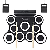9-Pad Foldable Electronic Drum Set, Paxcess Electric Roll up Drum Pads MIDI Drum
