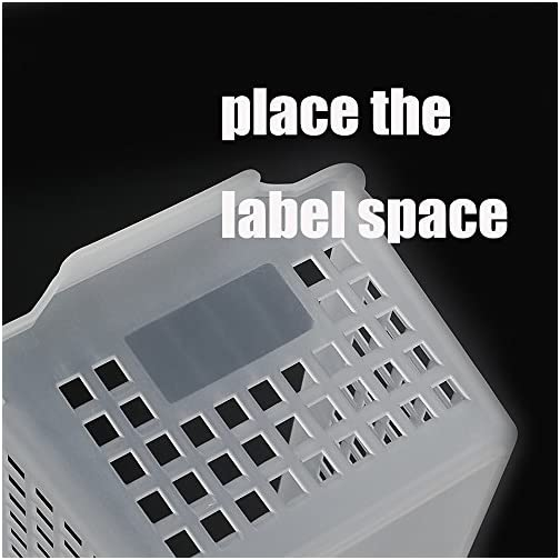 Qsbon Large Plastic Storage Organization Bins Basket, Set of 3, Clear 5