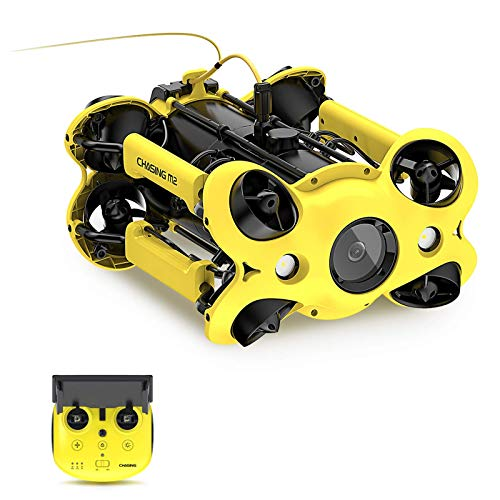 Chasing Gladius M2 Underwater Drone with 4K UHD Image Stabilized Camera for Real Time Viewing, Diving to 330F, Swappable Battery, Accurate Temperature&Depth Recording, Anti-Stuck Motor,Probe Fish, ROV
