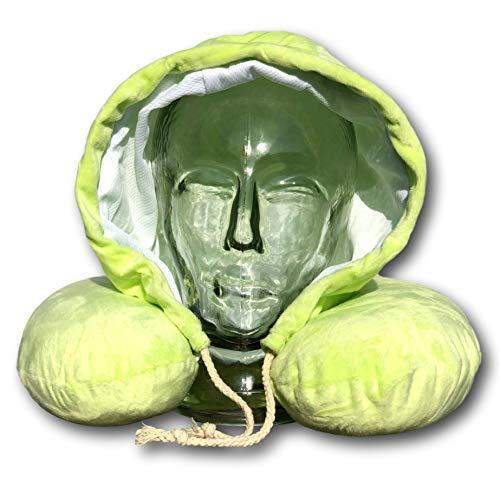 EKNA - Juego de almohadas cervicales con capucha, espuma viscoelástica, incluye máscara para dormir y tapones para los oídos