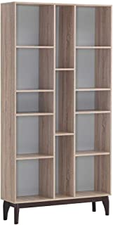 Maison Concept Brames Shelf, Beige and Grey - H 2000 x W 300 x D 1020 mm