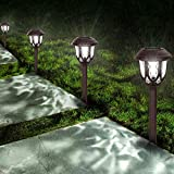 Solar Lights Outdoor Decorative,10 Packs Solar Pathway Lights,Powered Landscape Lighting,Waterproof Solar Powered Garden Yard Lights for Walkway Sidewalk Driveway-Cool White