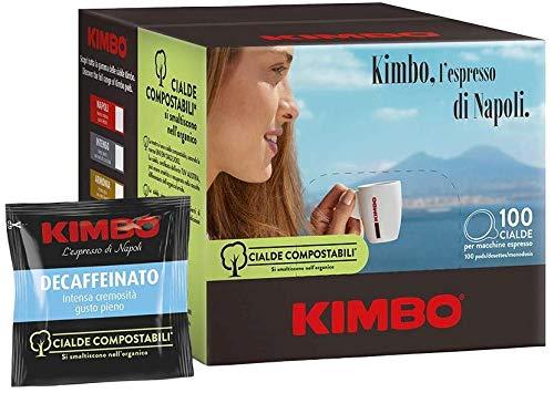 KOFFIE KIMBO DECAFFEINATO - CAFEÏNEVRIJ - Box 100 PADS ESE44 7g