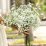 vijTIAN Ramo de Flores Artificiales de Seda para decoración del hogar, CREA un Ambiente cálido y romántico para tu Familia, cómodo y Natural