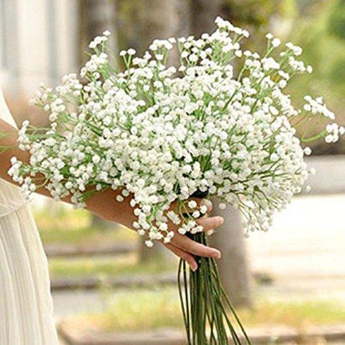 Künstliche Gypsophila Kunstpflanze Kunstblumen Künstliche Pflanze Künstliche Blumen für Weihnachten Geburtstag Hochzeit Wohnzimmer Büro Cafe Desktop Dekoration 40.5cm/15.79