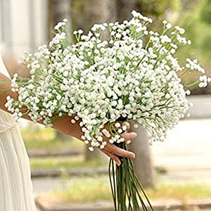 GBSELL Romantic Artificial Gypsophila Floral Flower Fake Silk Wedding Party Bouquet Home Decor Real Touch Flowers for Wedding Decor DIY Home Party