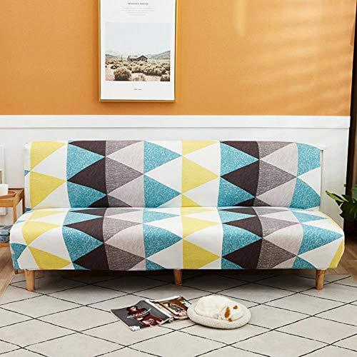 JIAYAN Funda de sofá Plegable de Tela Escocesa de Spandex sin apoyabrazos Funda de sofá Cama elástica geométrica Todo Incluido Funda para sofá Toalla para sofá SML Tamaño-KLE, L 190-210cm
