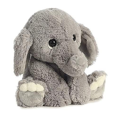 DXORJL Feliz bebé Cosas rellenas Sonido Suave Piel Almohada fábrica de fábrica de Peluche de Elefante (Color : Gray, Size : 25cm)