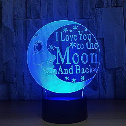 Lámpara de luna 3D, 7 colores, LED, lámpara de noche táctil, USB, lámpara de mesa para habitación de bebé, lámpara para decoración del hogar, Drop Shipping