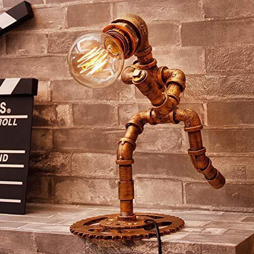 BRIGHTER Nostalgische Steampunk Tischlampe Roboter Licht Industrie Wasserrohr SchreibtischlampeEnergiesparen Tischlampe(Ohne Glühbirne)