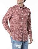 REPLAY M4049 Camisa, 010 Rojo/Blanco Natural, S para Hombre