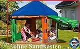 Gartenwelt Riegelsberger Dachplane mit Seitenteilen für Sandkasten Willi 153 x 153 x H180 cm ohne Holz