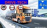 Navegador GPS de 5 pulgadas para camiones, coches, autobuses, caravanas y campistas, aviso de radares, actualizaciones de mapas, mercancías peligrosas, asistente de carril (5 pulgadas con TMC, BT)