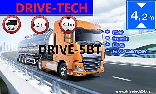 Navigatore GPS da 5 pollici DRIVE-5BT, per camion, auto, autobus, camper e camper. Rilevatore di radar, aggiornamento mappe gratuito, Bluetooth,...