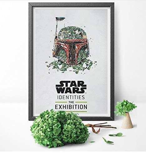 shuimanjinshan Star Wars Identities Ausstellung Rolle Print Art Poster Leinwand Malerei Poster und Druck Wandkunst Home Decor 50x70cm Ungerahmt pc-304