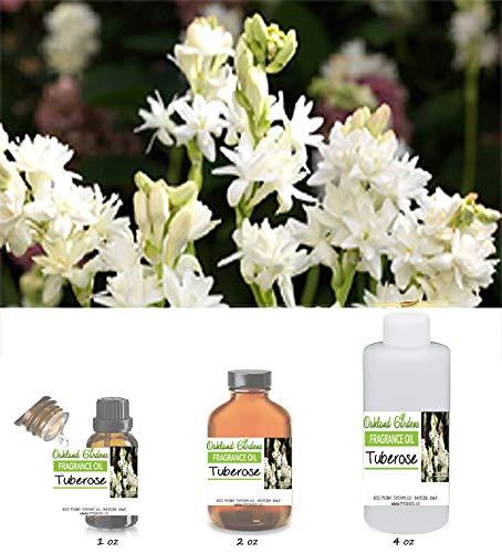 Tuberose Fragrance Oil - Heavy, White Floral with lushness of Tropical Blossoms - Bulk Fragrance Oils by Oakland Gardens (060 mL - 2.0 fl oz Bottle)