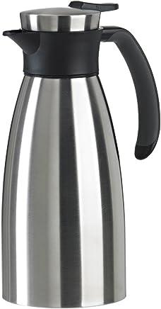 Emsa 508932 Isolierkanne (1 Liter, Quick Tip Verschluss, Soft Grip, Edelstahl) schwarz preisvergleich bei geschirr-verleih.eu