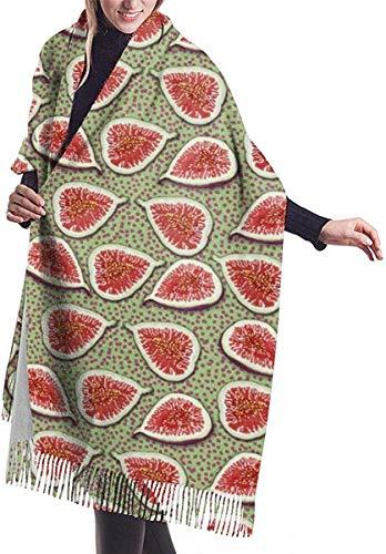 Bufandas de punto abrigos para las mujeres robó egipcia antigua Cashmere Feel Chales de gran tamañ