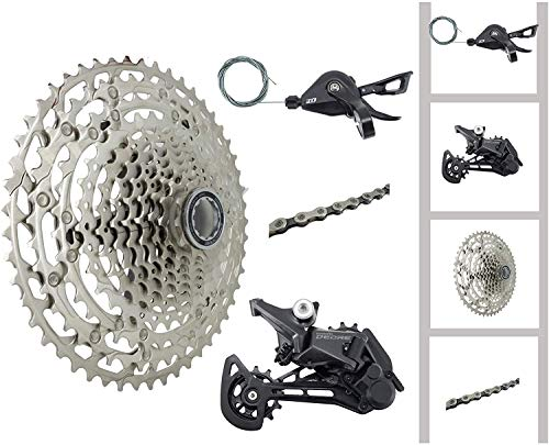 JGbike Compatible MTB groupset for Shimano Deore M5100 11 Speed shifters & Rear Derailleur, KMC X11 Chain,Sunrace 11-51T CS-M5100 Cassette