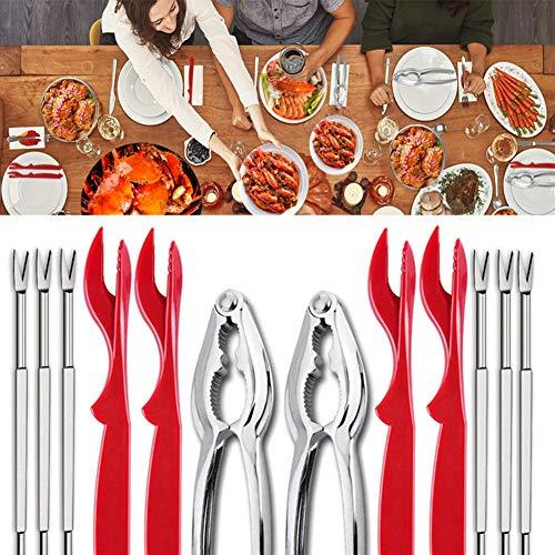 BESTEU 12 unids/set mariscos herramientas cangrejo galletas