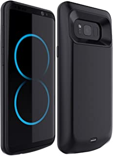 RUXELY Galaxy S8 Battery Case,5000mAh Portable External Backup Charging Case, Rechargeable Protective Power Bank Charger for Samsung Galaxy S8(Black)(Not for Galaxy S8 Plus)