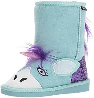 MUK LUKS Boys Rainy Unicorn Boots Fashion, Mint, 12 M US Little Kid