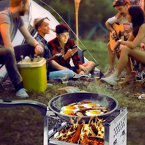 Product Image 7: Unigear Wood Burning Camp Stoves Picnic BBQ Cooker/Potable Folding Stainless Steel Backpacking Stove