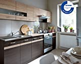 Küche 240cm von FIWODO®   ERWEITERBAR   günstig + schnell   Einbauküche Junona Line Set 240 4 Fronten wählbar (WENGE/SONOMA)