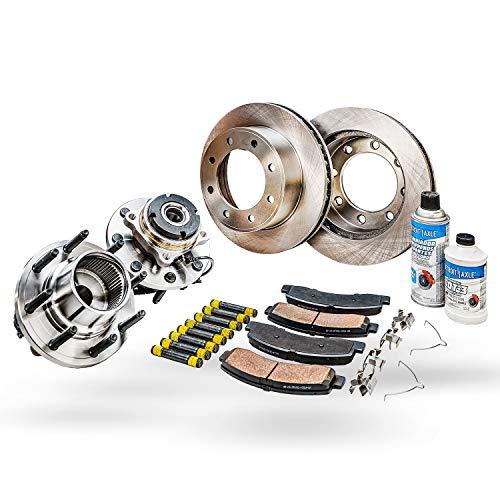 Detroit Axle - Front Wheel Bearing Hub Assembly and Brake Kit Rotor w/Ceramic...