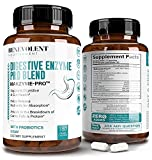 High Fiber Digestive Enzymes Supplement - 180 Capsules, Proprietary 2500HUT Makzyme-Pro Blend Probiotics Plus Papaya, Bromelain, Multi Natural Extracts for Healthy Digestion & Bloating Reduction