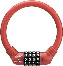 ULAC 自転車 鍵 ケーブルロック クロスバイク ワイヤーロック 軽量 ダイヤルロック 太さ12㎜ 高切断対抗 盗難防止 頑丈 3色 4桁暗証番号
