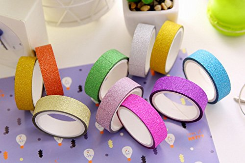 Rainbow kalaixing decorativo Washi-Rotoli di nastro adesivo per album diy__10 diversi colori