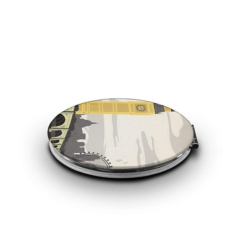 いう時々時々扱う化粧鏡 ロンドン アイ ロンドン橋 折りたたみ 自由 角度調整 180° 回転 女優ミラー 携帯用ミラー コンパクトコンパクト ミラー