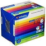 バーベイタムジャパン(Verbatim Japan) 1回記録用 DVD-R CPRM 4.7GB 20枚 ホワイトプリンタブル 片面1層 1-16倍速 DHR47JDP20V1
