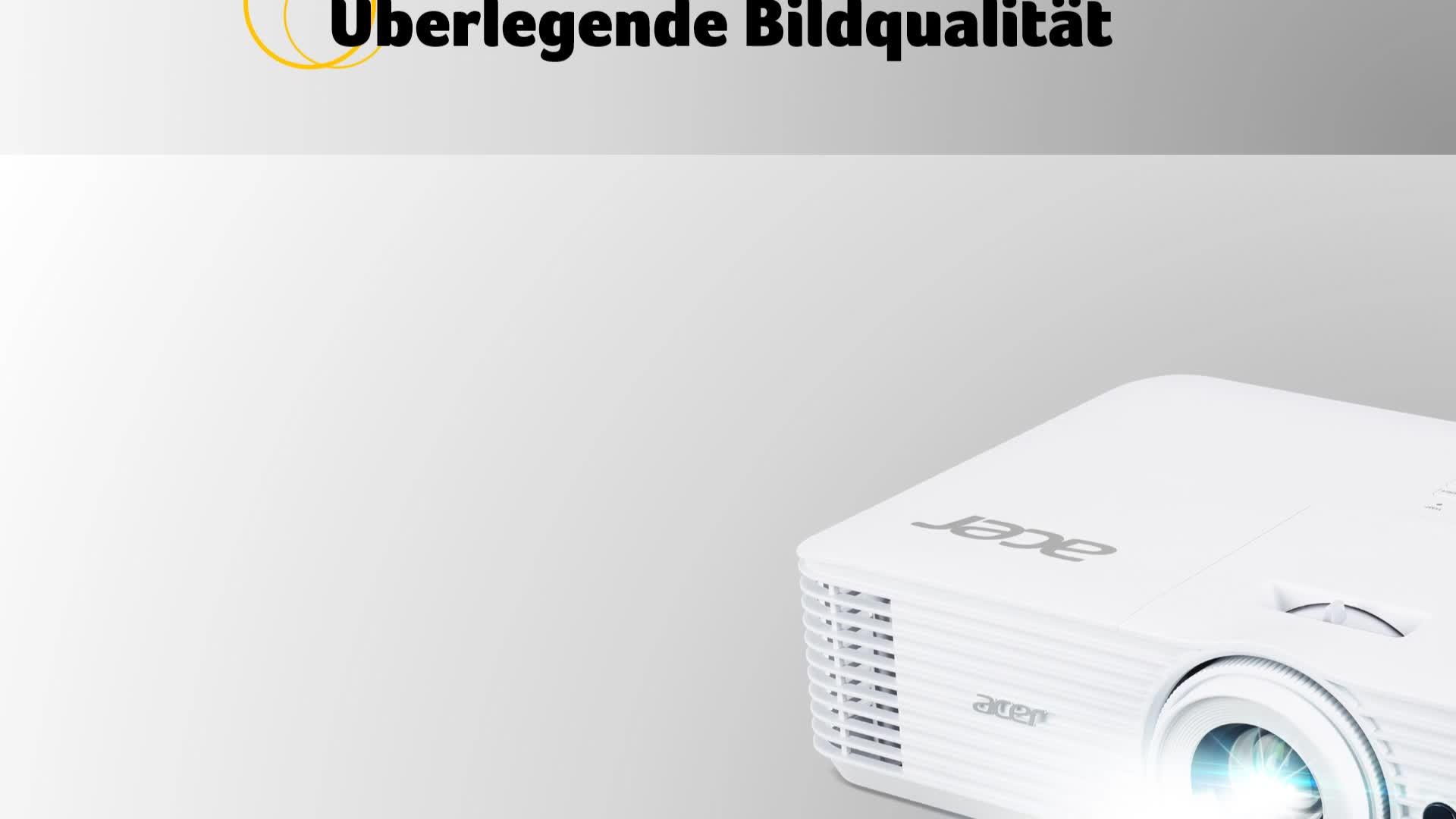 Acer H6541bd Dlp Beamer Fhd 1 920 X 1 080 Pixel 4 000 Ansi Lumen 10 000 1 Kontrast 3d Keystone Lautsprecher Hdmi Hdcp Vga Audio Heimkino Heimkino Tv Video