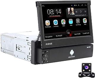 Android 1 DIN Radio de Coche GPS CAMECHO 7 Pulgadas hacia afuera Pantalla tactil capacitiva Bluetooth FM Radio WiFi Navega...