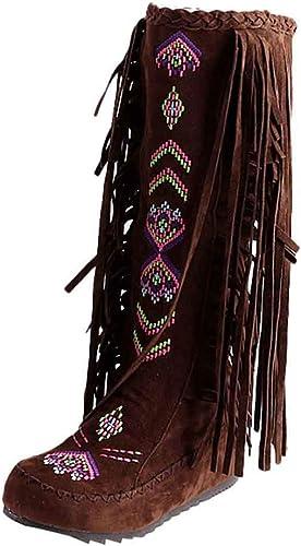 ZHRUI zapatos de otoño con Cremallera y Botines de tacón Alto para mujer (Color   marrón, tamaño   5)