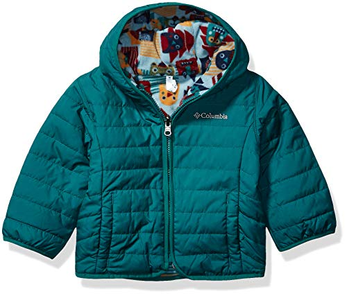 Columbia Kids' Toddler Double Trouble Jacket, Pine Green/Pine Green Critter Block, 2T