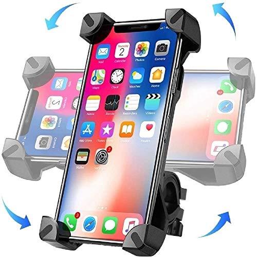 """Moogambi Soporte móvil Bicicleta y Motocicleta con rotación 360º sujeción Universal Compatible con Carrito bebé Scooter Patinete eléctrico Manual GPS antivibración móviles de 4""""-7"""""""