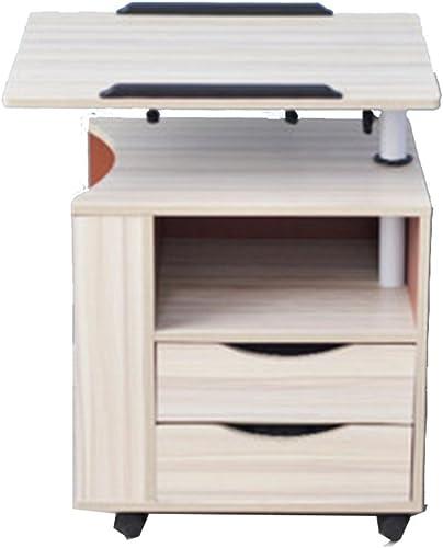 NAN Tiroir de Chevet avec étagère Rangement Table d'appoint, Bois, (Bois, Rose, Blanc, Noir) (Couleur   Wood)