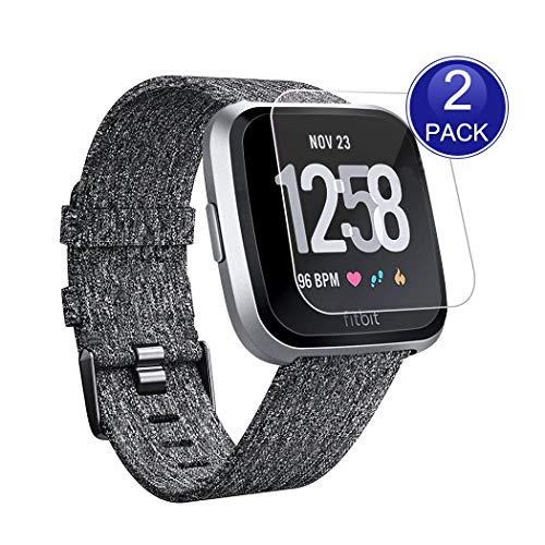 Preisvergleich Produktbild X-Dision [2 Stück] HD Displayschutzfolie Kompatibel mit Fitbit Versa,  0, 26 mm HD Schutzfolie,  9H Glas Schutzhülle,  Anti-Kratz und Anti-Fingerabdruck,  mehr Schutz