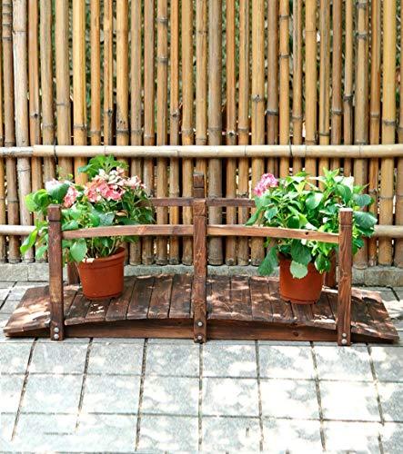 LNDDP Máquina Flores Madera Jardín Pequeño Puente Madera Bastidores Flores al Aire Libre Soporte exhibición del Puente del Arco, Organizador 151 * 65 * 55 cm