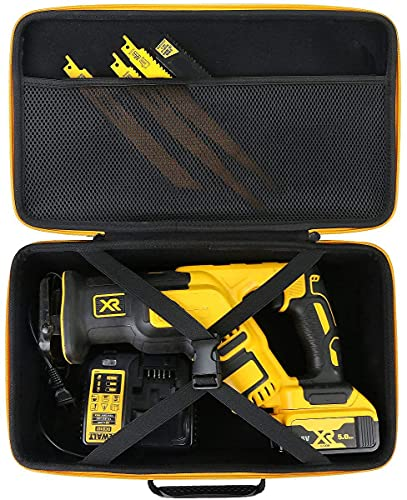 Khanka Hard Storage Case Replacement for DEWALT 20V MAX XR Reciprocating Saw (DCS367B / DCS387B) / D-Handle Rotary Hammer Drill (DCH133B / DCH263B), Case Only