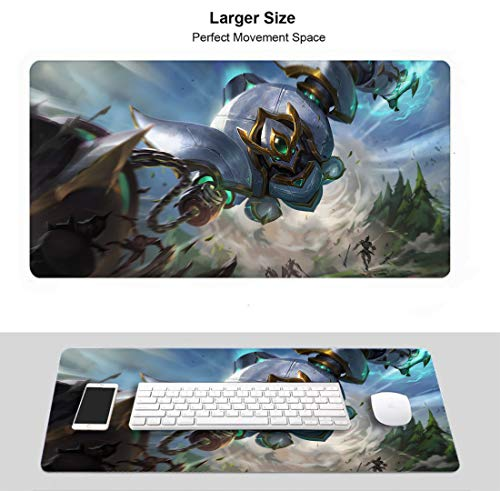 Extended Size Professional Gaming Mouse Pad for League Legends,LOL Waterproof Non-Slip Rubber Ultra Thick 3Mm (Lancer Paragon Blitzcrank)