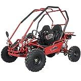 X-PRO 125cc Youth Go Kart Dune 7.1hp Gokart Child 125cc Go Kart GK 125 (Red)