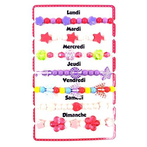 Bracelets de la Semaine - MODELE ALEATOIRE - Livraison à l'unité - Jouets et accessoires mode pour enfant