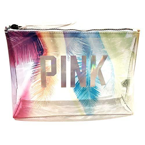 Victoria Secret Pink Prism Palm Travel Pouch Makeup Bag