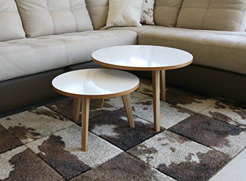 Table gigogne Jimi Bois Design scandinave Lot de 2