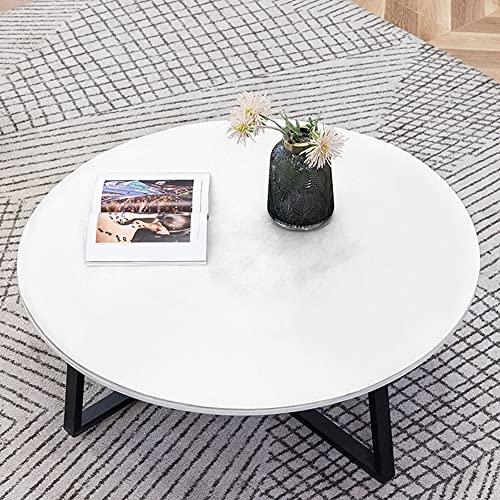 MOTT Mantel redondo impermeable para mesa redonda, protector de mesa a prueba de aceite, mantel lavable para mesa de cocina y comedor